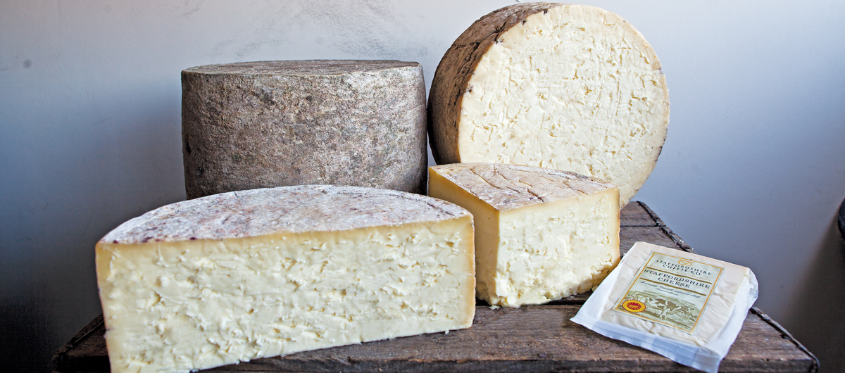 Range of distinct artisan cheese